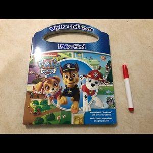 Paw Patrol write and erase book